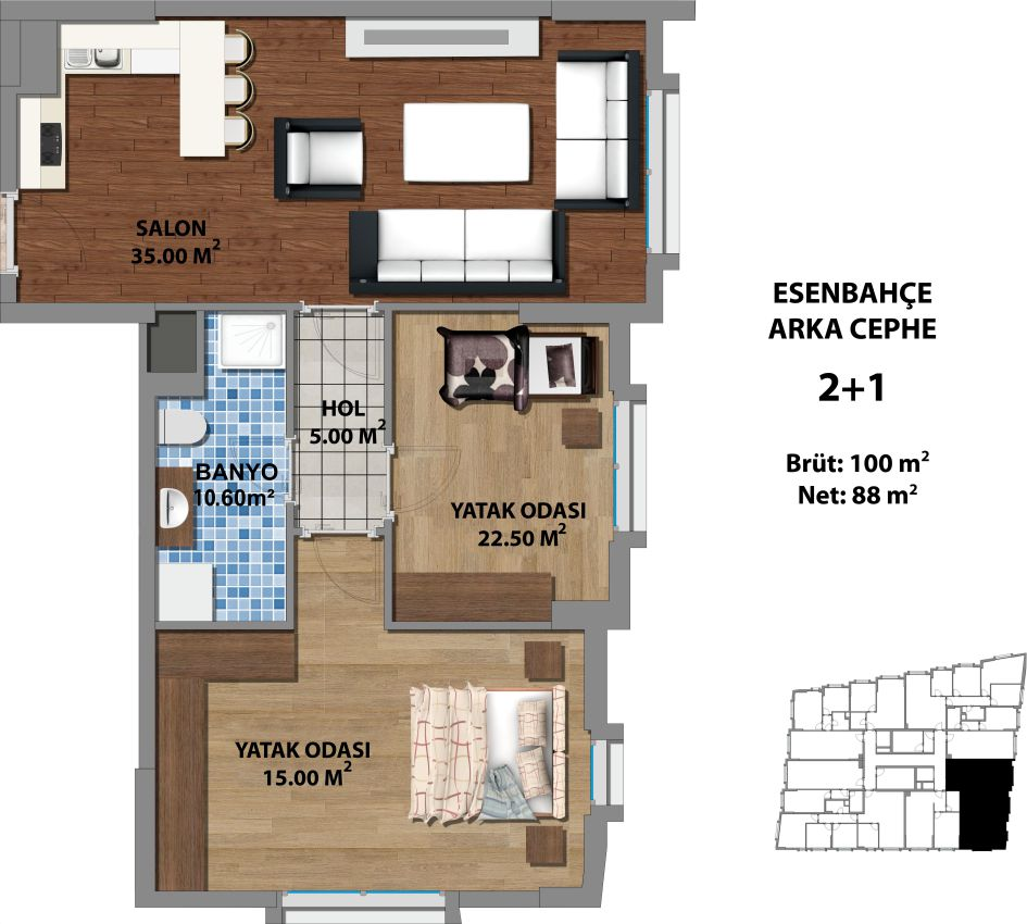 apartment for sale istanbul two bedrooms